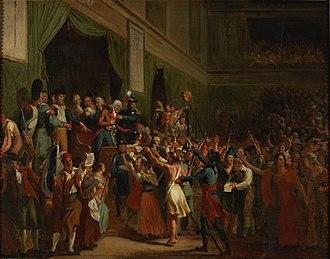 Jean-Bertrand Féraud - Image: Boissy d'Anglas saluant la tête du député Féraud, 1er prairial an III Charles Fournier des Ormes Musée de la Révolution française