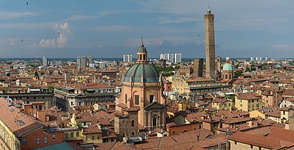 Bologna, Italy. View from the top of the Basilica di San Petronio.