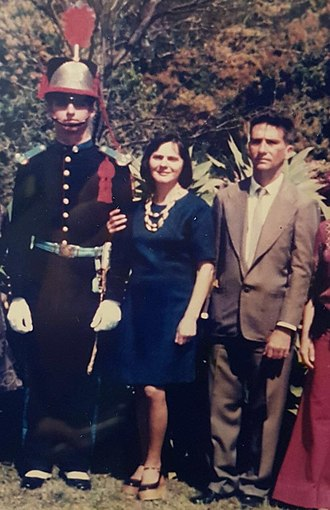 Jair Bolsonaro - Jair with his parents, Olinda and Geraldo Bolsonaro at the Agulhas Negras Military Academy in 1979.