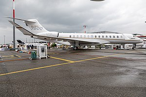 Bombardier Global 7500 at EBACE 2019, Le Grand-Saconnex (EB190309).jpg