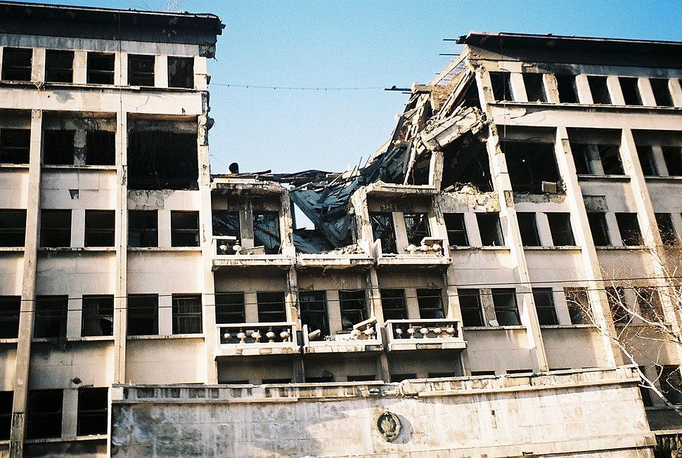 Bombed building on ulica knez milosa