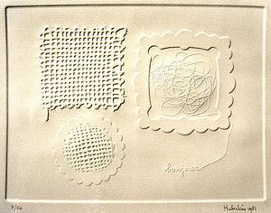 Hubertine Heijermans - Bonjour photo-etching 1981