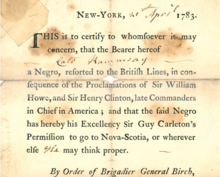 Book of Negroes, Samuel Birch.png
