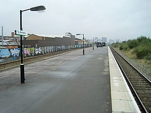 Bordesley railway station - The station in 2014, looking towards the city centre.