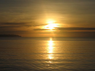 Borongan - Sunrise viewed from Borongan City's Baybay Boulevard.
