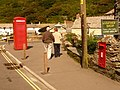Boscastle, phone box and postbox - geograph.org.uk - 1466516.jpg