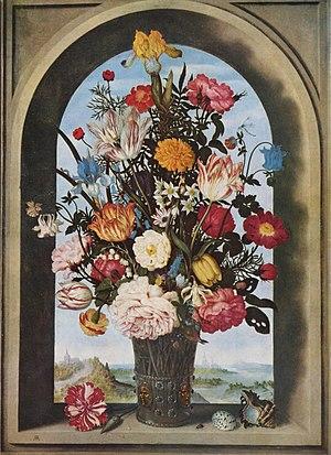 Vase Of Flowers In A Window Niche Wikipedia