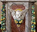 Bottega di Andrea Della Robbia, fonte battesimale di san pietro a vaglia, ricomposto nel settecento, 02.jpg