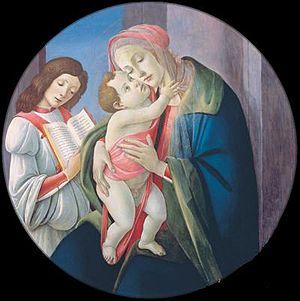 Bob Jones University Museum & Gallery - Image: Botticelli madonna and child with an angel bob jones university