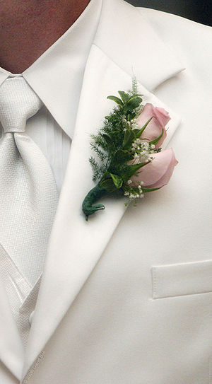 Close-up of a boutonniere.