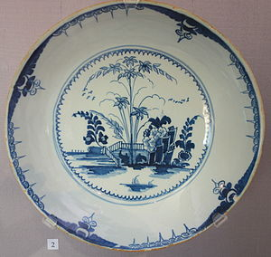English delftware - Chinoiserie bowl, Lambeth Pottery, c. 1760