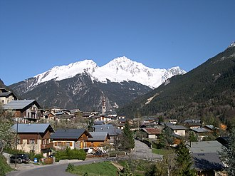 Tarentaise Valley - General sight of Bozel, in Tarentaise Valley.