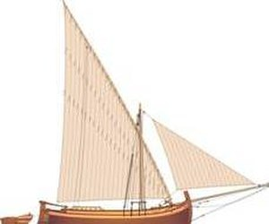 Bracera - A single masted lateen sail bracera