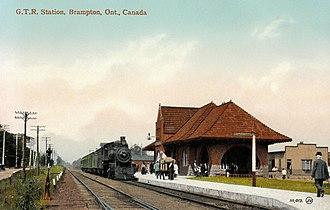 Brampton GO Station - Brampton station circa 1910