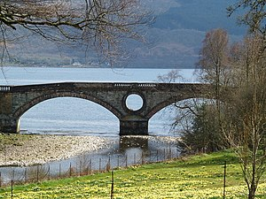 Aray Bridge - Aray Bridge from the castle grounds