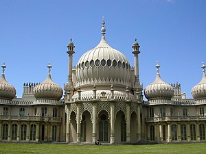 Grade I listed buildings in Brighton and Hove - The Royal Pavilion was built for the Prince Regent by John Nash.
