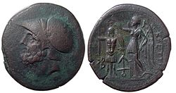 bronze coin issued by the brutti