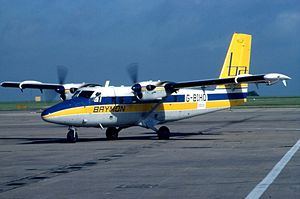 Brymon Airways - de Havilland Canada DHC-6 Twin Otter at East Midlands Airport in 1984