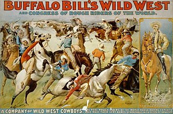 Werbeplakat für Buffalo Bills Wildwest-Show in den USA