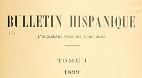 Image illustrative de l'article Bulletin hispanique