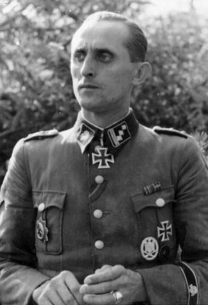Hauptsturmführer - Max Seela, as SS-Hauptsturmführer of the Waffen-SS