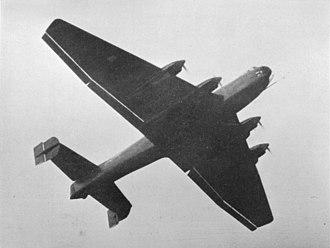 Ural bomber - A Junkers Ju 89 prototype in flight