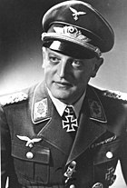 A photo of Oskar Bauer, commander of the II. Division of Flak Regiment 4