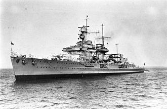 "German cruiser Nürnberg - Image: Bundesarchiv DVM 10 Bild 23 63 69, Leichter Kreuzer ""Nürnberg"""