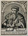 Burckhardus Mithobius (Mithoff). Line engraving by T. de Bry Wellcome V0004039.jpg