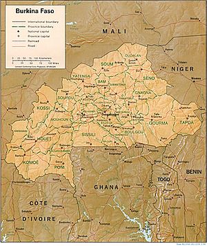 Geography of Burkina Faso - Map Of Burkina Faso
