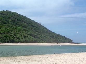 Burleigh Head National Park - Headland and Tallebudgera Creek viewed from the south