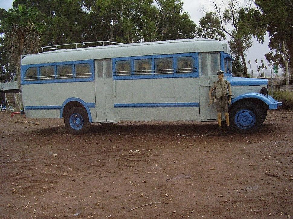 Bus Bringing Illegal Immigrants to Atlit Ditainee Camp