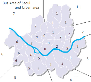 Seoul Buses - Image: Bus area numbering system of Seoul