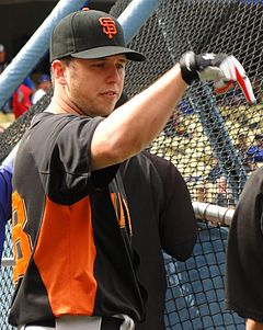 Buster Posey im April 2011