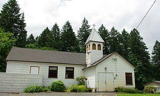 Butteville, Oregon - Church in Butteville