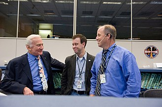 Josh Byerly - Apollo 11 Astronaut Buzz Aldrin in Mission Control with Byerly and Flight Director Ron Spencer