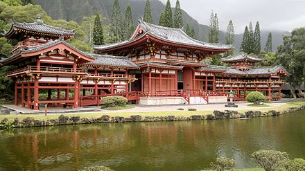Valley of the Temples Memorial Park near the island's eastern shore Byodo-In Tempel.jpg