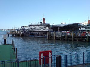 Auckland Ferry Terminal - The new section from Quay Street
