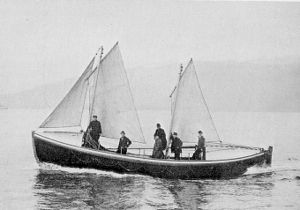 Bamfield - The motor lifeboat stationed at Bamfield in 1907.
