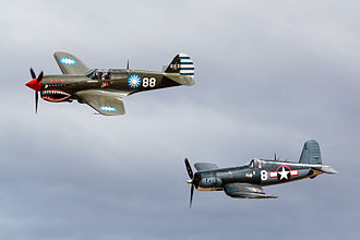 Classic Fighters - Vought Corsair and Curtiss P-40 at Classic Fighters 2015