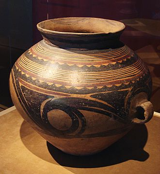 Chinese ceramics - Painted jar of the Majiayao culture, Late Neolithic period (3300–2200 BC)