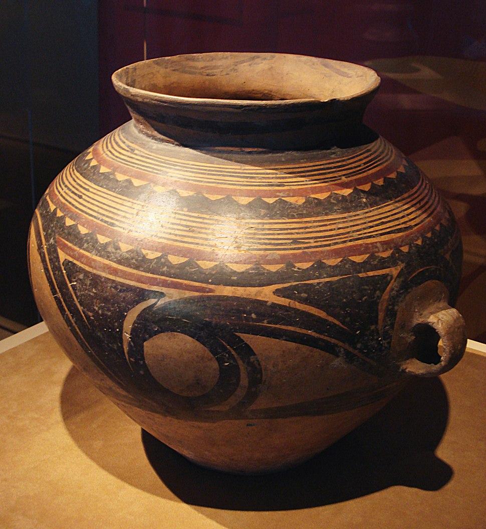 CMOC Treasures of Ancient China exhibit - painted jar
