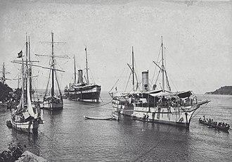 Gorontalo - Dutch ships in Gorontalo. Gorontalo was an important trading hub during the colonial era.