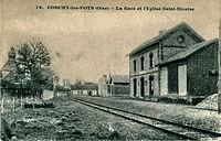 CONCHY LES POTS - La gare et l'église Saint Nicaise.jpg