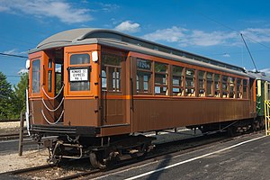Northwestern Elevated Railroad - A preserved Northwestern Elevated Railroad car dating from 1907