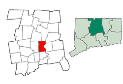 Lokasi di Hartford County, Connecticut