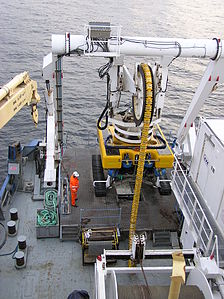 Cable Ship Peter Faber - Launching the ROV - TAT-14 cable system - April 2005.jpg