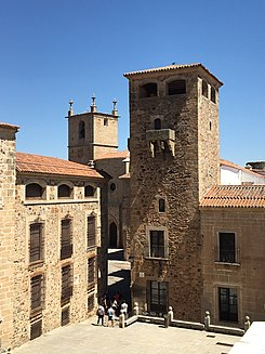 Caceres, Spain Old City - Plaza de San Jorge from Above.jpg
