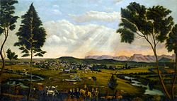 Panoramic view of Mthatha and the Drakensberg mountains (1913) by Caesar Carl Hans Henkel