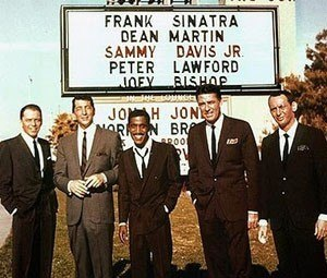 Rat Pack - L-R: Frank Sinatra, Dean Martin, Sammy Davis Jr., Peter Lawford, Joey Bishop